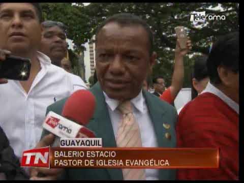 Realizaron asamblea y marcha contra el matrimonio civil igualitario