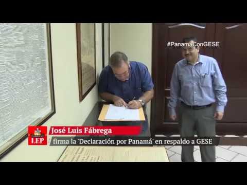 José Luis Fábrega firma la 'Declaración por Panamá' en respaldo a GESE