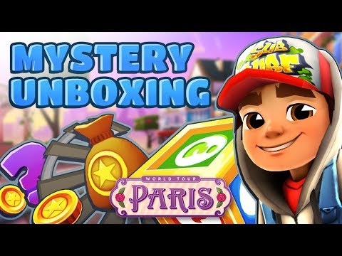 Subway Surfers Mystery Unboxing - Opening Mystery Boxes in Paris (Valentine's Day) (видео)