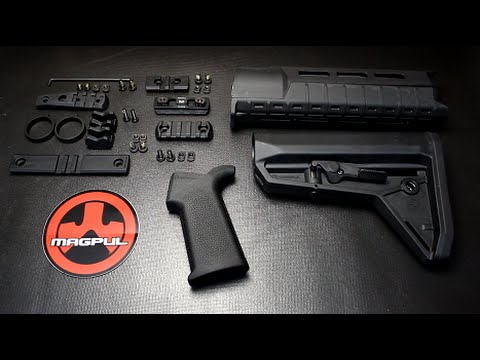 Magpul - Fun Gun Reviews Presents: The New Magpul MOE SL AR-15 Stock Furniture. It's slim and trim with the Hand Guard being designed to accept the new M-Lok Mounting...