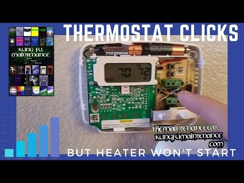 Thermostat Clicks But Heater Not Turning On Fan Works AC Runs But Heat No Start Repair Video