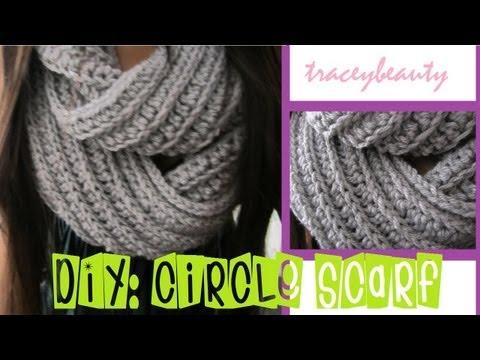 DIY: Knit-Like Circle Scarf(Crochet Tutorial)