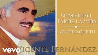 Video Vicente Fernández - No Creo Que Tú (Cover Audio) MP3, 3GP, MP4, WEBM, AVI, FLV Agustus 2019