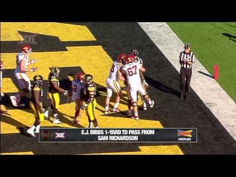 E.J. Bibbs 1-yard touchdown catch vs Iowa 2014 video.