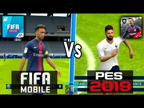 PES 2019 MOBILE VS FIFA 19 MOBILE GAMEPLAY