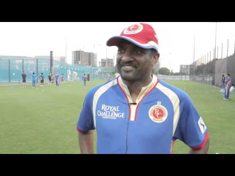 At the IPL, Muralitharan having fun with his teammates