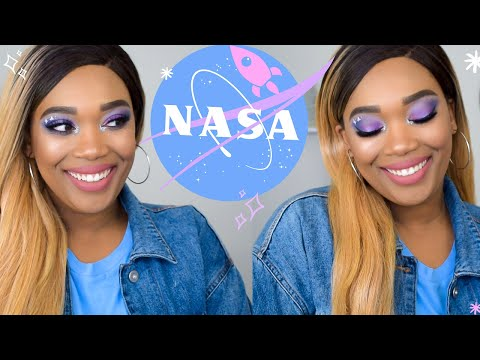 NASA ✨| Purple and Blue Galaxy Makeup Tutorial | Vickiee Vice