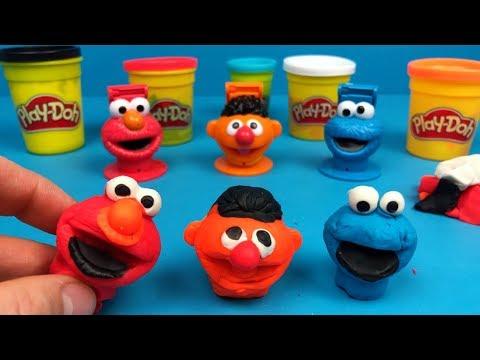 Play doh - Play-Doh Sesamstraat poppetjes maken  Cookie monster, Elmo en Ernie