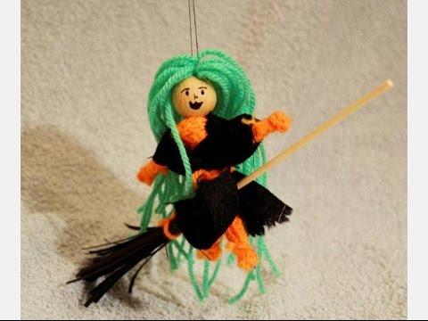 Basteln mit Resten: Kleine Hexe von der Strickliesel
