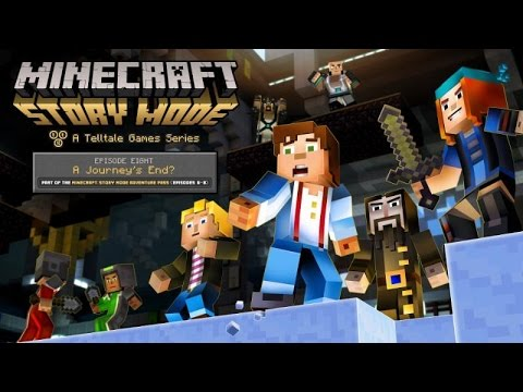 "Minecraft: Story Mode Episode 8 ""A Journey's End""  All Cutscenes (Game Movie) 1080p HD"