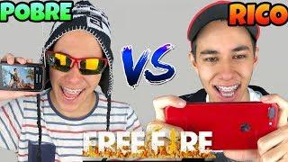 RICO VS POBRE FREE FIRE (muito engraçado)