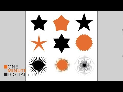 Change The Default Star Shape In Illustrator Tutorial