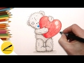 How to Draw a Teddy Bear with a Valentine's Heart ❤ Step by Step Easy for beginners