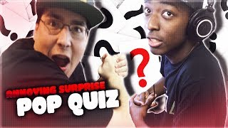Help me reach 300k subs http://bit.ly/SubtoHAM I creep into the tK house and hit the guys with a pop quiz! Drop a like if you enjoy...