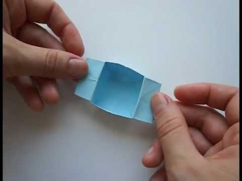 Как сделать надувную коробочку из бумаги