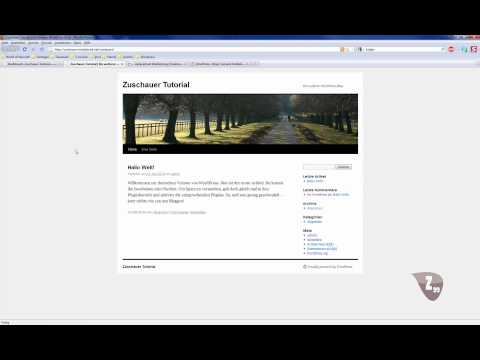 Homepage Tutorial WordPress Teil 2 – Installieren , Themes und Widgets [German/Deutsch]