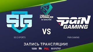 SG-eSports vs paiN, China Super Major SA Qual, game 1 [Eiritel]