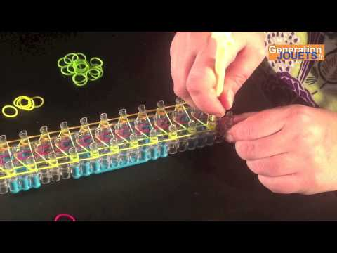 Créer un bracelet Rainbow Loom simple à 3 rangs en français
