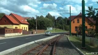 Jablonec nad Nisou Czech Republic  city pictures gallery : Tramvajová trať: Jablonec nad Nisou - Liberec (Viadukt), linka 11 (7/2015)