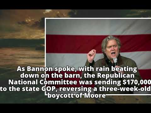 In Alabama, Steve Bannon asks Republicans to win one for Trump
