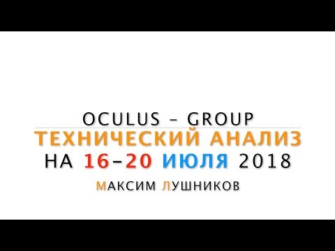 Технический анализ рынка Форекс на неделю: 16 - 20 Июля 2018 от Максима Лушникова - DomaVideo.Ru