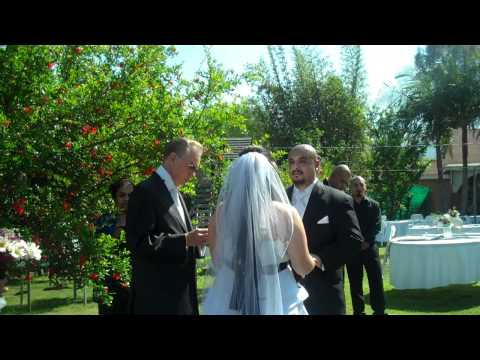 perrry - Reverend Ron Perry officiates a wedding in Corona, CA. Included in this video is the