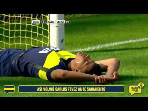 Así regresó Carlos Tévez ante Sarmiento