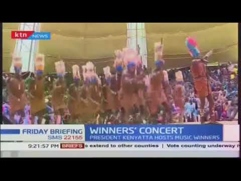 President Kenyatta hosts music festival winners in Sagana