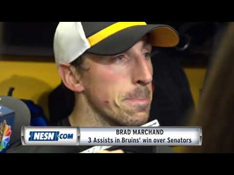 Video: Brad Marchand on Patrice Bergeron's hat trick performance