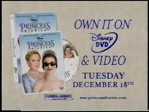 Disney's - The Princess Diaries VHS/DVD Commercial #1 (2001)
