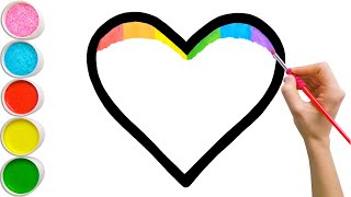 Video Glitter Rainbow Heart Coloring, Drawing 🌈❤️ Learn Colors for Kids, Toddlers   Magic Fingers Art MP3, 3GP, MP4, WEBM, AVI, FLV Juni 2019