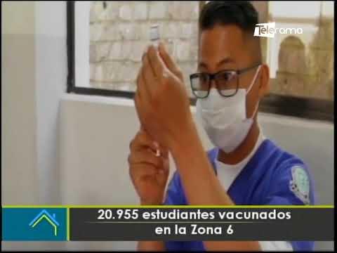 20.955 estudiantes vacunados en la zona 6