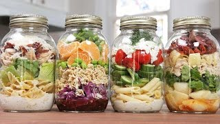 Pasta Salads In A Jar | Back-To-School Lunch Idea 2016 by The Domestic Geek