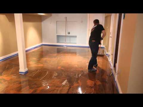 Designer - Designer Epoxy Floor Installation.