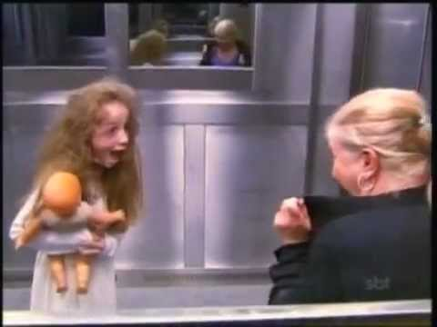 Ghost girl in elevator prank. LMFAO