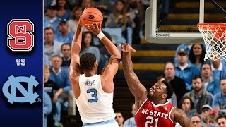 NC State vs. North Carolina Men's Basketball Highlights (2016-17)