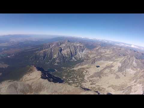 Prelet ponad Vysoké Tatry
