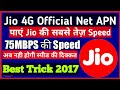 JIO 4g Original APN for fastest Speed  More Than 75 MBPS
