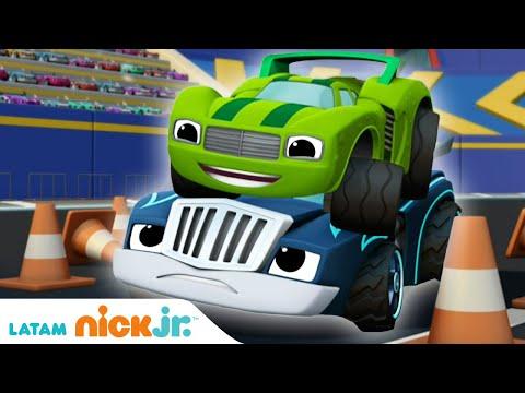 Blaze and the Monster Machines | Lo mejor de Crusher y Pickle - parte 3 | Nick Jr.