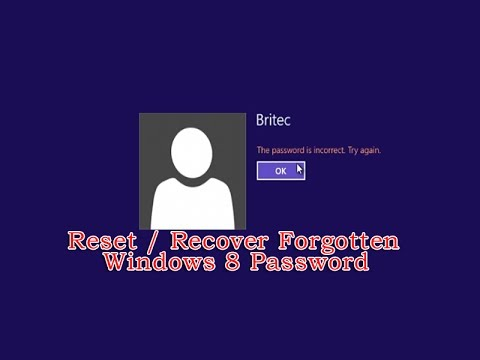 Recover from Forgotten Windows 8 Password