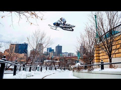 Urban Snowmobiling in Saint Paul