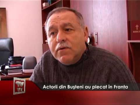 Actorii din Buşteni au plecat în Franţa