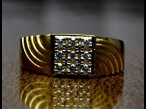 9 diamond ring for men's made in 18kt gold design and price