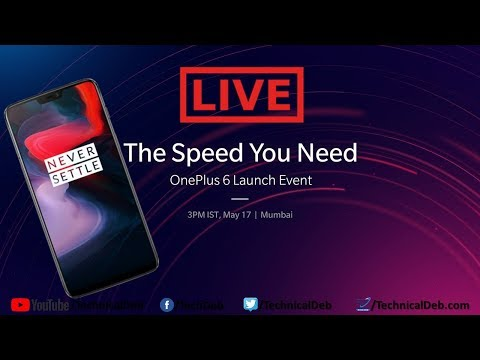 OnePlus 6 Launch Event in India