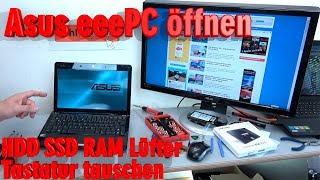 Hier der Link zum Artikel ► http://tuhlteim.de/asus-eeepc-netbook-laptop-oeffnen-hdd-ssd-ram-luefter-tastatur-tauschen-reparierenDer Asus EeePC ist ein kleines Netbook mit Windows 7 vorinstalliert. Wollt Ihr den EeePC aufrüsten und Windows 10 installieren, dann solltet Ihr eine SSD einbauen. In diesem Video seht Ihr, wie man das kleine Laptop öffnet und den Lüfter reinigt, RAM erweitern, die Festplatte ausbaut oder die CMOS-Batterie wechselt.Habt Ihr auf eurem Asus EeePC Windows 7 installiert, dann könnt Ihr immer noch, auch nach 2017, kostenlos auf Windows 10 upgraden, solange Microsoft diese Option nicht deaktiviert.Lest den kompletten Artikel mit Video auf Tuhl Teim DE mit zusätzlichen Tipps, Bildern und InfosDie Webseite von Tuhl Teim DE  ►  http://tuhlteim.de▼ ▼ ▼  ERSATZTEILE  & KOMPONENTEN  ▼ ▼ ▼Die beliebteste SSD ist momentan die Samsung EVO-Reihe mit 120GB bis 4TB  ►  http://amzn.to/2uEEZmg  [*]Von Crucial gibt es die günstige MX300 Reihe mit 275GB bis 1TB  ►  http://amzn.to/2tbSw0o  [*]RAM-Module für Netbooks gibt es hier  ►  http://amzn.to/2uhAoVP  [*]Aktuelle neue Netbooks und Notebooks  ►  http://amzn.to/2uIaJWI  [*]Festplatten für Notebooks gibt es hier  ►  http://amzn.to/2tm7zbW  [*]Notebook Akkus zum Austauschen  ►  http://amzn.to/2uz9dpM  [*]Ganz wichtig:Bevor Ihr euch Teile kauft, schaut vorher genau, ob diese Komponenten mit eurem System kompatibel sind.▼ ▼ ▼  TIPPS & TRICKS  ▼ ▼ ▼Windows 10 könnt Ihr noch wie folgt kostenlos bekommen  ►  http://tuhlteim.de/windows-10-update-download-noch-kostenlos-mit-4k-videoDie meisten Netbooks haben nur einen Atom-Prozessor. Um dessen mangelnde Leistung auszugleichen, solltet Ihr euer Netbook-RAM erweitern und eine SSD einbauen.Gibt es beim Installieren von Windows 10 das Problem, dass eure CPU nicht unterstützt wird, dann schaut mal diesen Artikel ► http://tuhlteim.de/windows-10-cpu-wird-nicht-unterstuetztHier findet Ihr über 100 Videos, wie man Notebooks auseinanderbaut ► https://www.youtube.com/playlist?li