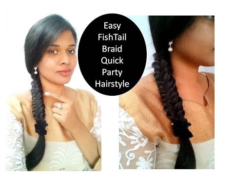 How to do Fish tail braid   Quick party Hair style