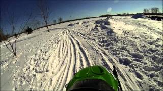 2. GoPro Crash on ZR120 Arctic Cat