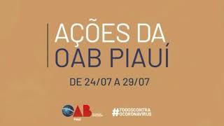 Ações da OAB Piauí de 24 a 29/7