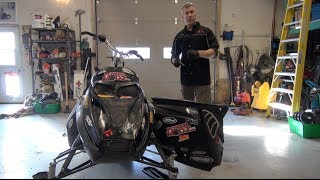 7. Skidoo Rev 800 Maintenance before the trip!  Powermodz!