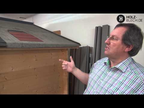 Welche Dacheindeckung sollte man für ein Gartenhaus verwenden?